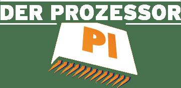 Der Prozessor - Logo weiss